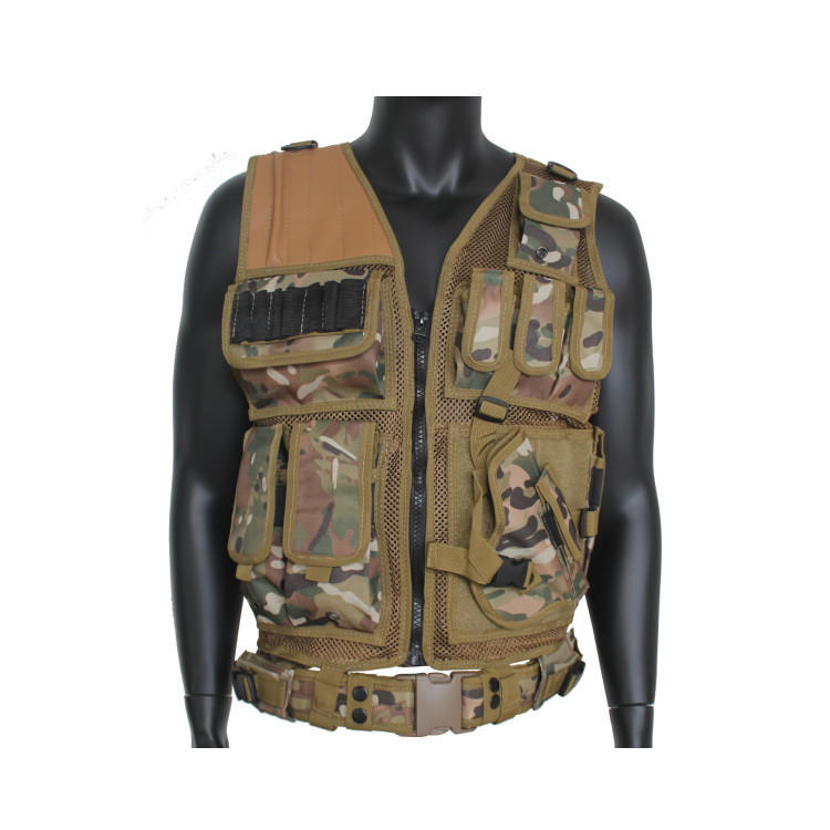 Tactical Vest Outdoor Ultra-Light Breathable Combat Training Vest Adjustable for Adults