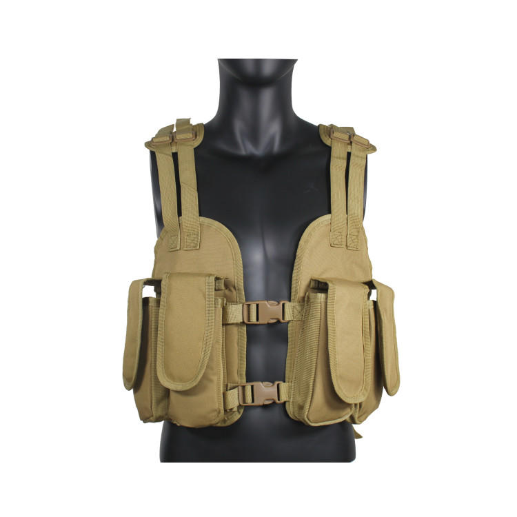 Tactical MOLLE Vest Adjustable Paintball Combat Training Vest Detachable for Hunting Mountaineering Outdoors