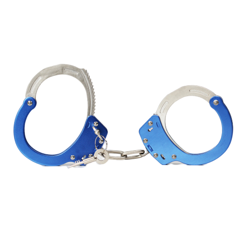 Professional Chrome-Nickel Plated Steel Handcuffs Police Use 2 Keys Double Lock