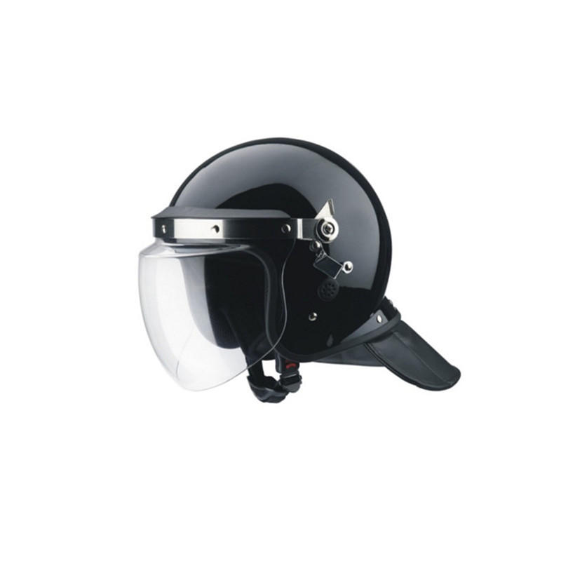 Protective Police Gear with Visor Anti Riot ABS Helmet Control Casque