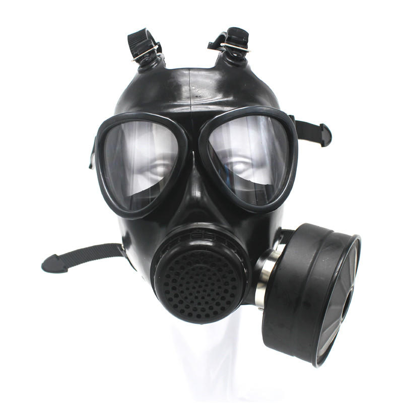 Police Army Military Professional Anti Riot Protective Face Cover Gas Mask With Filter
