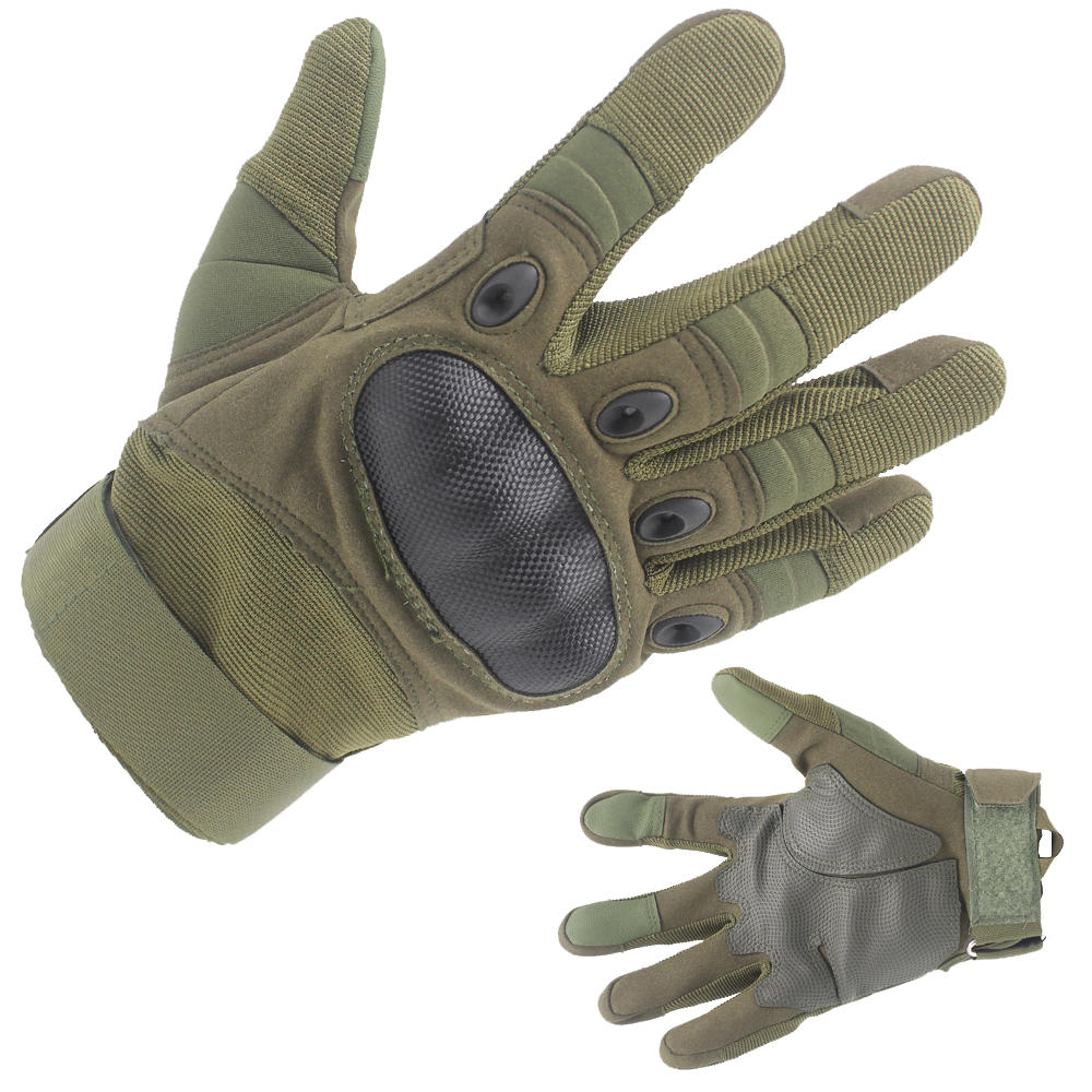 Top Quality Army Green Tactical gloves for shooting, Patrol & Work Factory