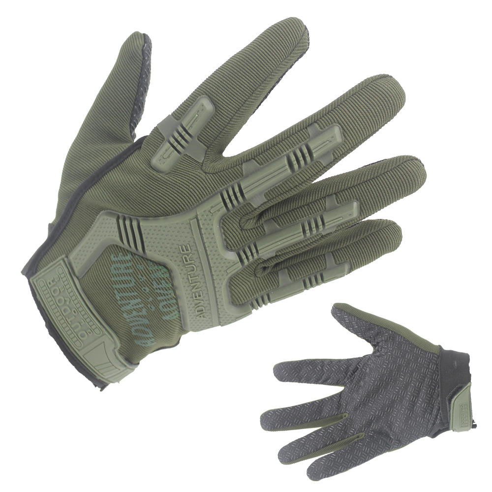 Professional Army Green Tactical Leather Gloves Supplier-JN