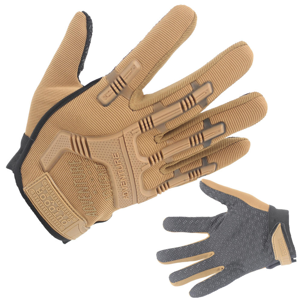 Top Quality Heavy Duty Leather Gloves Tactical Outdoor Gloves Wholesale-JN