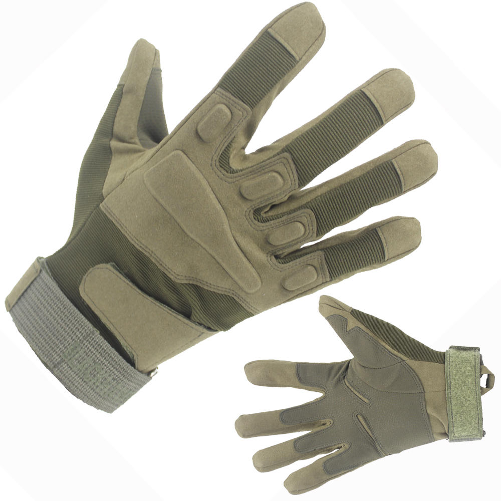 Customized Army Green Military Tactical Gloves Full Finger From China