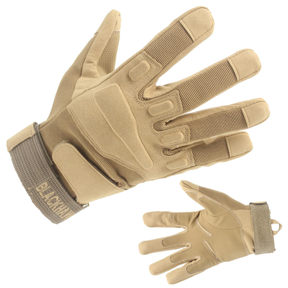 Wholesale Brown Tactical Gloves Khaki Gloves With Good Price-JN