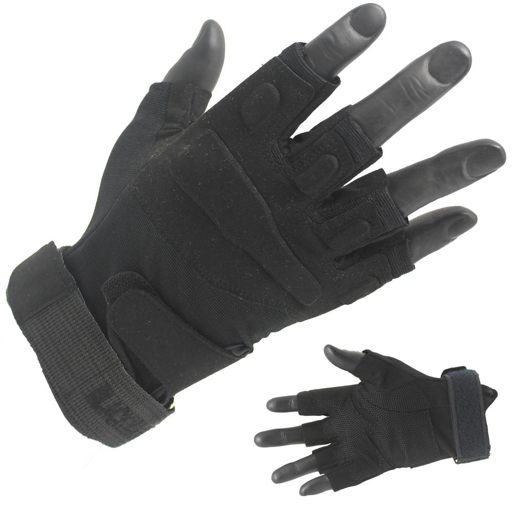 Factory Price Fingerless Tactical Black Gloves Supplier-JN