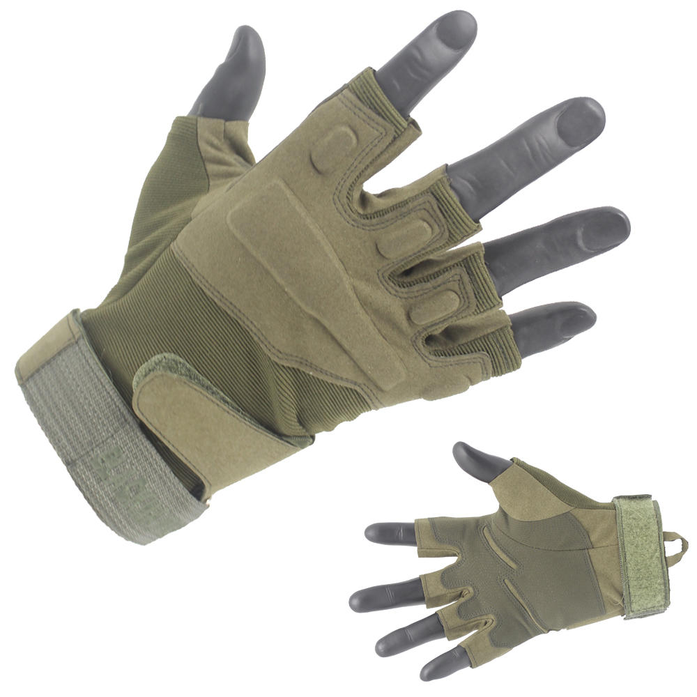 Customized Half-Finger Army Green Tactical Gloves From China