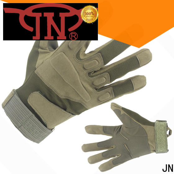 Wholesale black leather tactical gloves Supply for protection