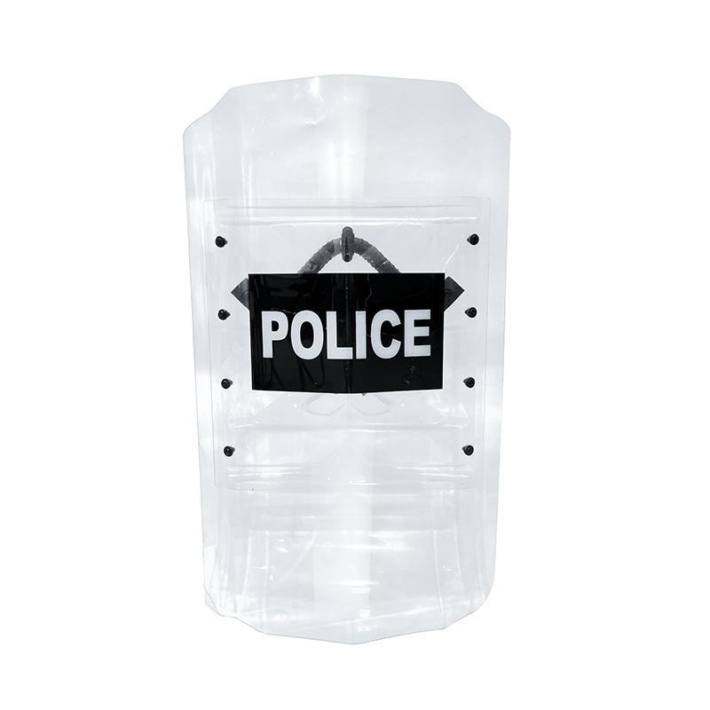 High quality riot gear shield polycarbonate anti riot control transparent shield