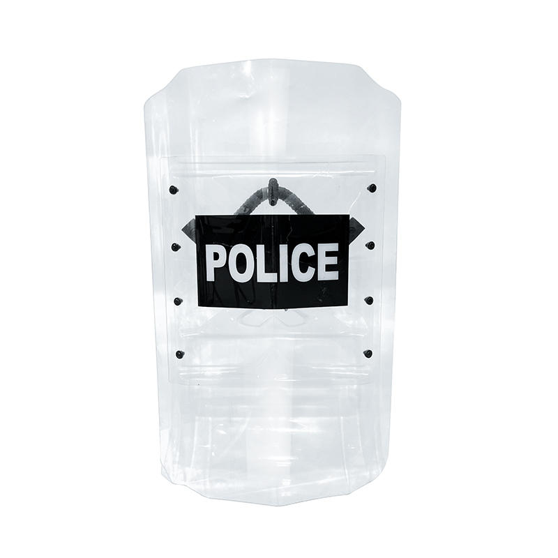 High quality riot gear shield polycarbonate anti riot control transparent shield