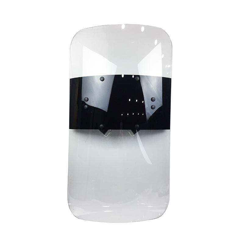 UV stabilized polycarbonate riot control shield transparent PC anti-riot police shield