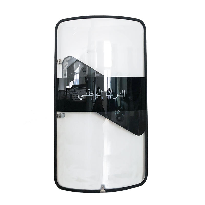UN Shield polycarbonate impact resistance anti riot shield with rubber band cover and baton holster