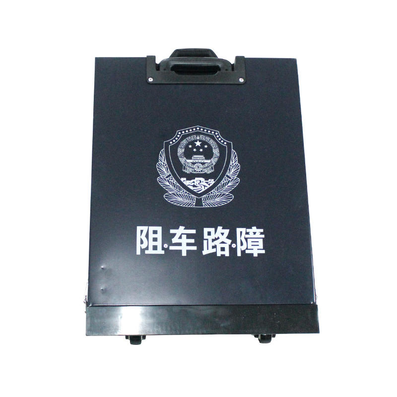 Remote control police equipment stainless steel road blocker tire killer road block