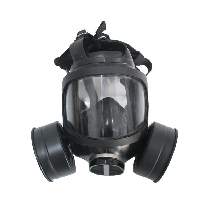 Wide-field gas mask, military police use gas mask, chemical full face gas mask